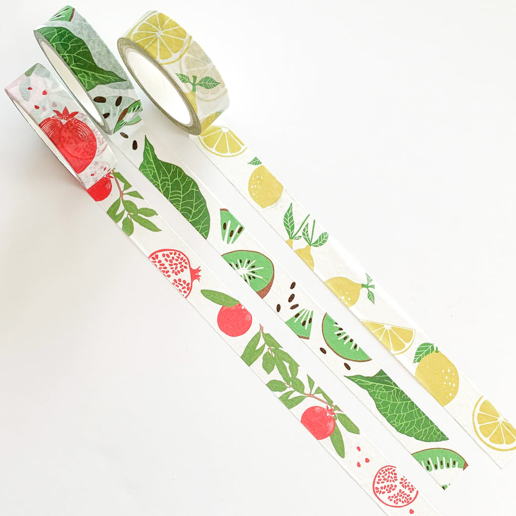 Set de 3 washi tapes motifs fruits - Kraftille