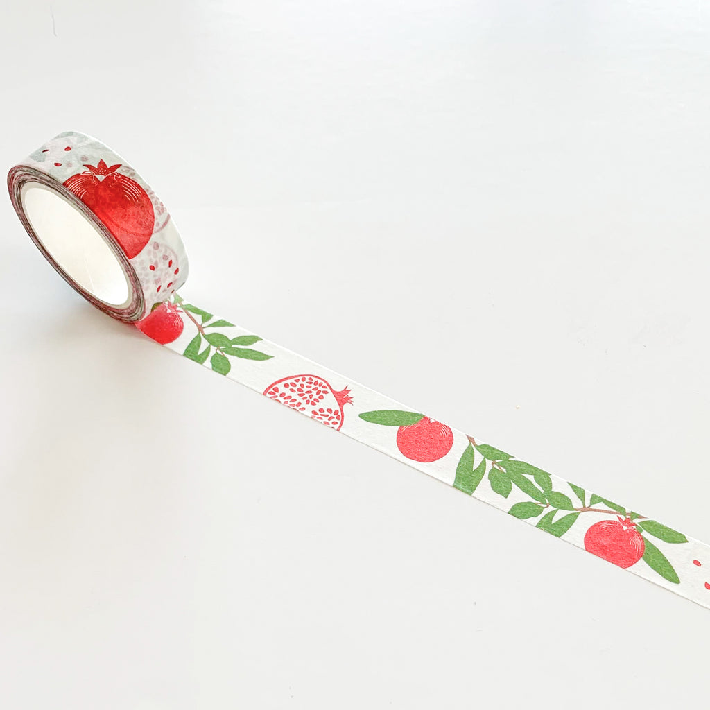Washi tape grenade fruit - Kraftille