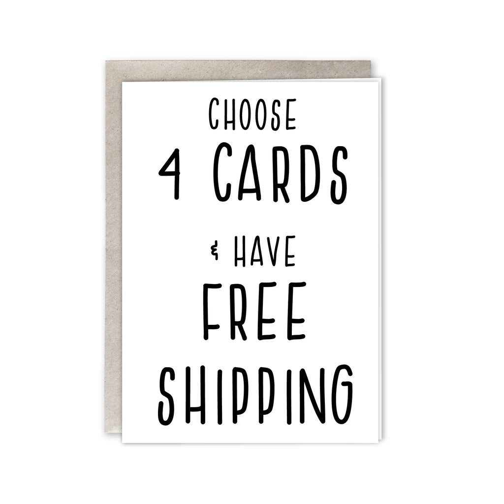 Choose 4 cards and have free shipping - Kraftille