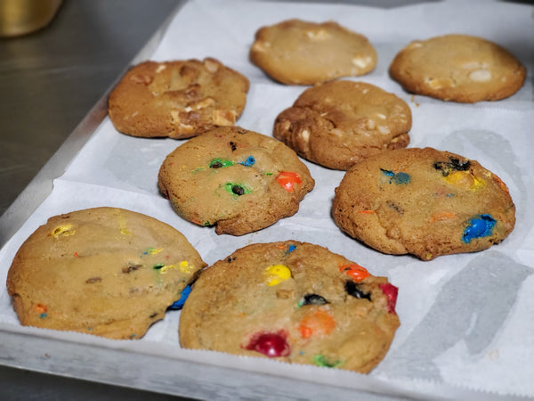 2 M&M Candy Cookies