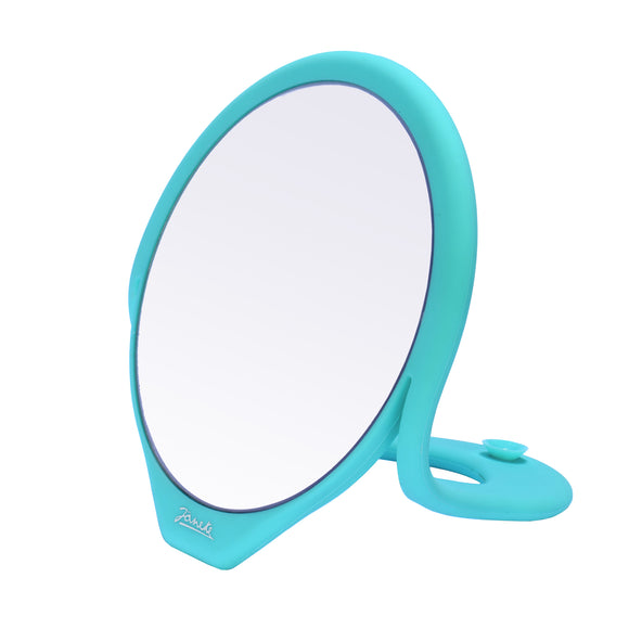 Silicone Table Top Makeup Mirror - Aquamarine