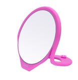 Silicone Table Top Makeup Mirror - Pink