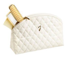 Quilted Beige Bag Beauty Kit - Large