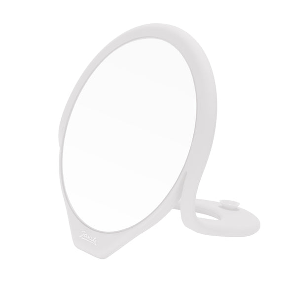 Silicone Table Top Makeup Mirror - White