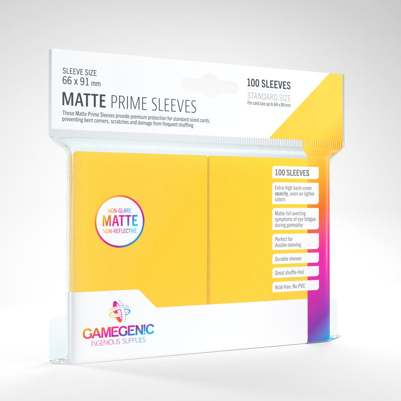 100 Count Matte Sleeves - Yellow