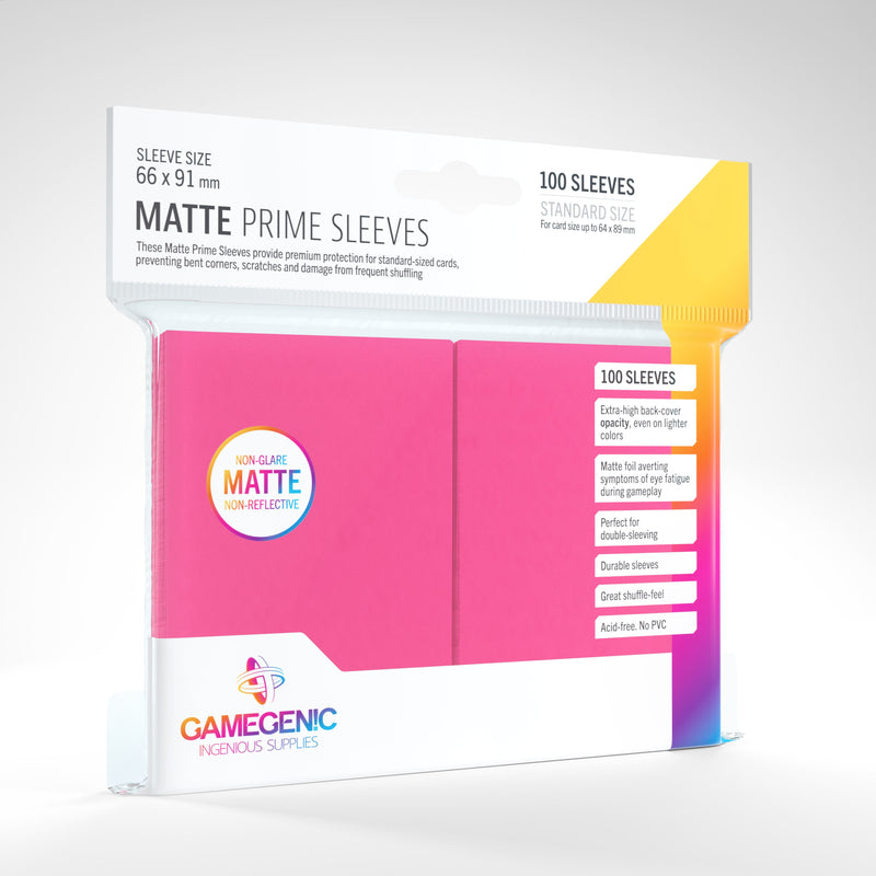 100 Count Matte Sleeves - Pink