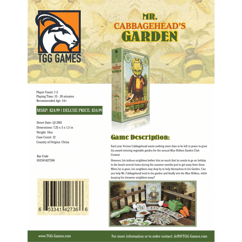 Mr. Cabbagehead's Garden: Deluxe Edition (Releases Q1 2021)