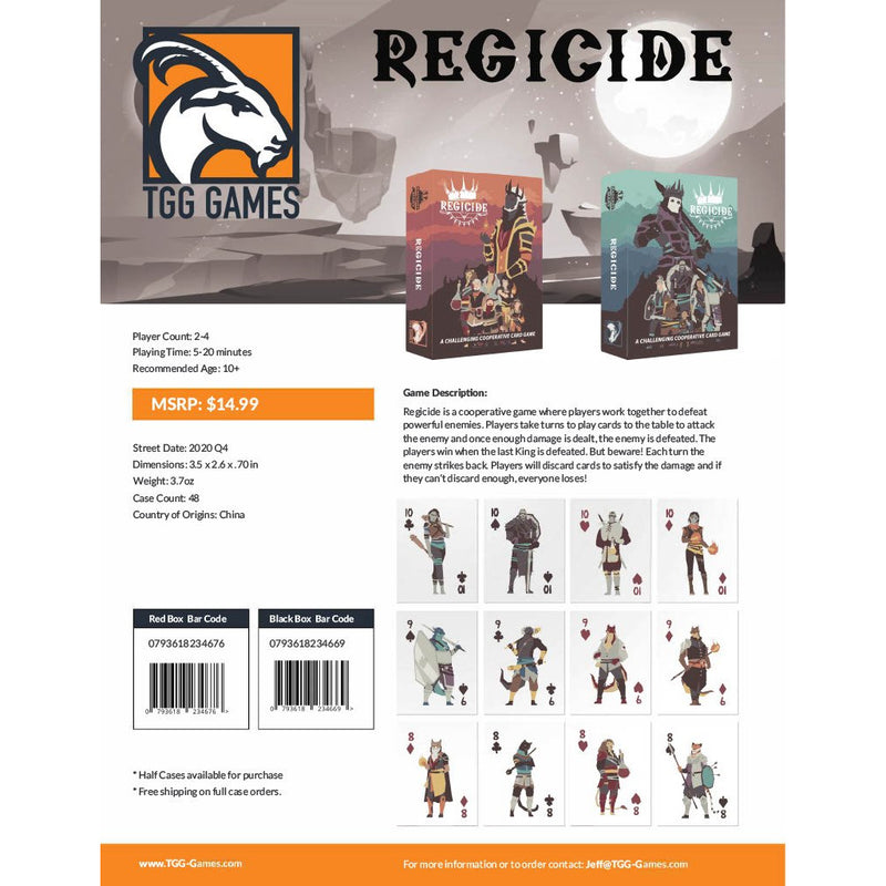 Regicide (Teal) (Now Available)