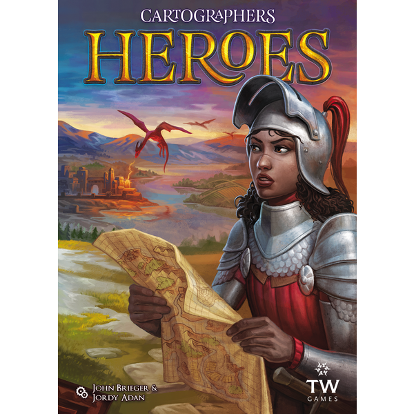 Cartographers Heroes + 3 Map Pack Expansions (Legendary Cartographer Pledge)