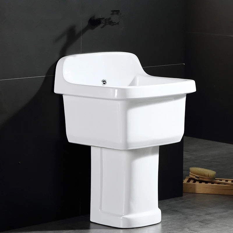 Porcelain Wall Mounted Laundry Sink 043