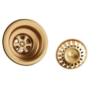 Brushed Gold Undermount Kitchen Sink Single Bowl 16 Gauge Stainless Steel with Nano Coated Technology