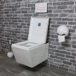 Modern Square Wall Mounted  Hung Toilet Bowl 8005