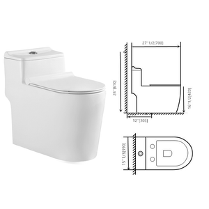 One piece toilet compact elongated dual flush 923