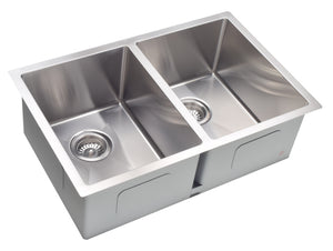 "28"" X 18"" - 18Gauge Stainless Steel Undermount Double Kitchen Sink"