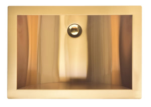 Brushed Gold-Matte Black-Brushed Nickel Stainless Steel- Under Mount Bathroom Rectangular Sink