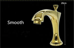 Gold-Rose Gold-Chrome  with Diamonds 8 Inch Wide Spread Bathroom Faucet