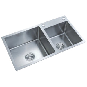 Kitchen double sink