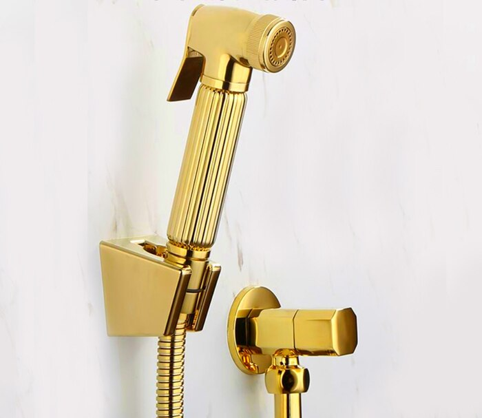 Polished Gold Wall Mounted Bidet Set  BD211-B
