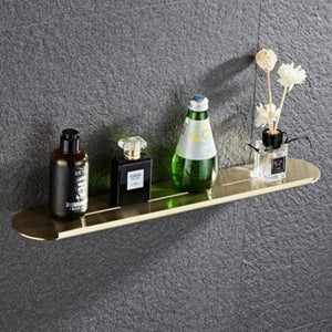 Bathroom Hardware Set Towel Rack Paper Holder Towel Bar Corner Shelf -Brush holder Brushed Golden Bathroom Accessories Set