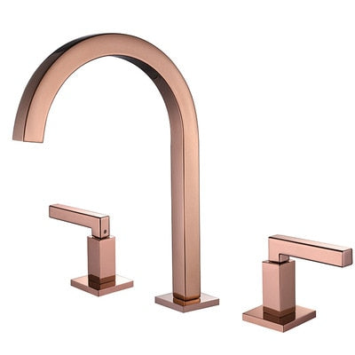 Gold and Rose Gold 8 Inch Wide Spread Lavatory Faucet
