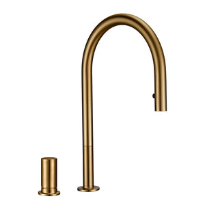 Brushed Gold Tall Kitchen Island Faucet