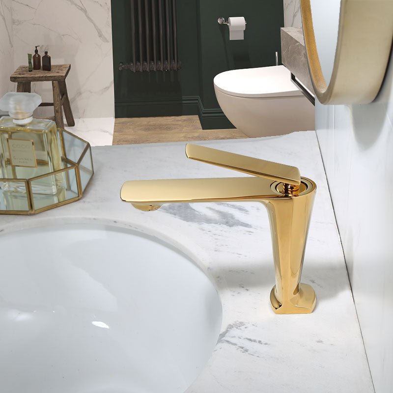 Gold- Rose Gold- Black Single Hole Lavatory Faucet