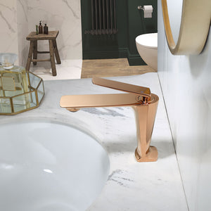 Rose Gold Basin Faucet Cold And Hot Water Mixer Sink Faucet