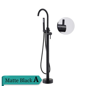 Matte Black Floor Standing  Bathtub Filler