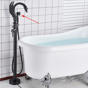 Swan Black-Chrome- Brushed Nickel Floor Freestanding Bathtub Filler