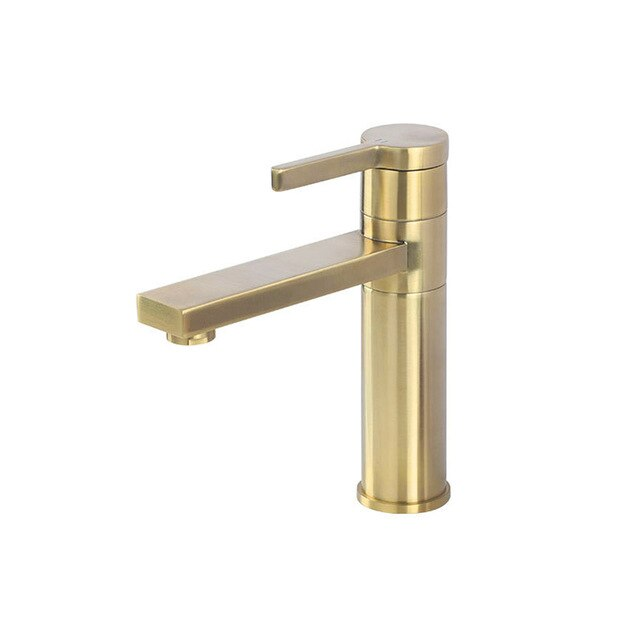 Brushed Gold- Gold-Black Tall and Short Rotable 360 Degree Single Hole Lavatory Faucet