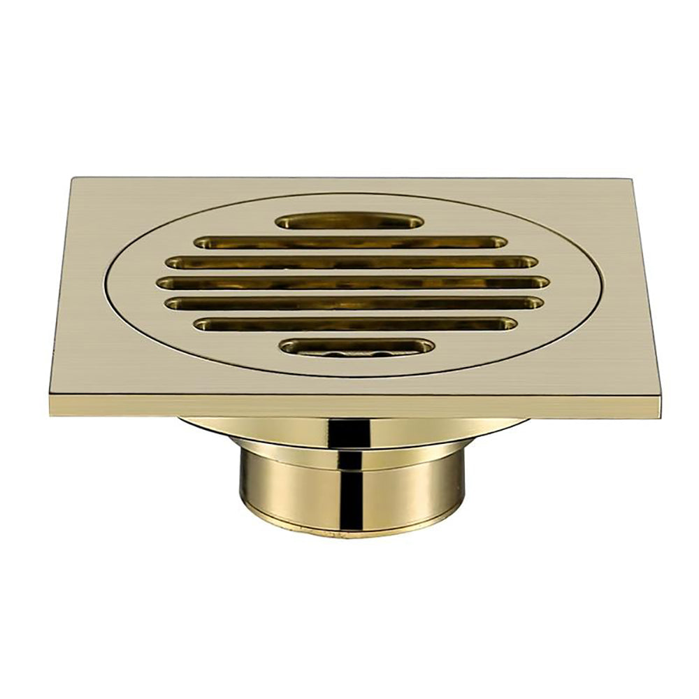 Brushed Gold Shower Floor Drain Waste Grate Drain
