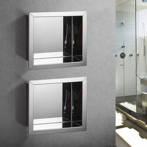 Wall Mounted Niche Shelf Stainless Steel Concealed Installation
