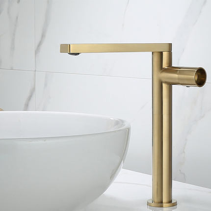 Brushed Gold-Matte Black-White Tall and Short Single Lavatory Faucet