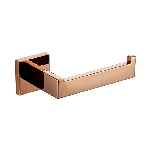 Rose Gold Polished bathroom accessories