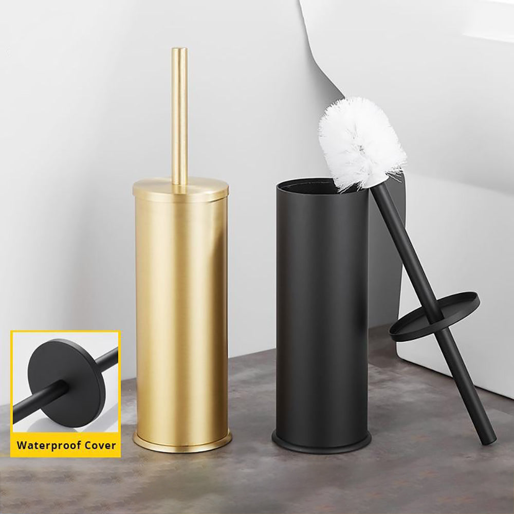 Black/White Bathroom Toilet Brush Holder Bathroom Cleaning Set Flooring Stand Free Installation Bathroom Accessories
