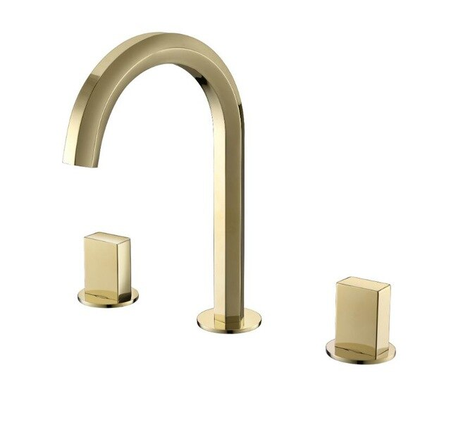 Brushed Gold- Rose Gold-Chrome 8 Inch Wide Spread Bathroom Faucet