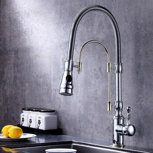 2 Way Kitchen Tall Dual Pull Out Mode Kitchen Faucet