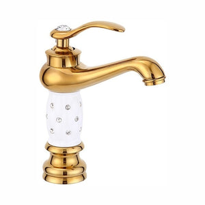 Gold faucet Brass with Diamond/crystal body