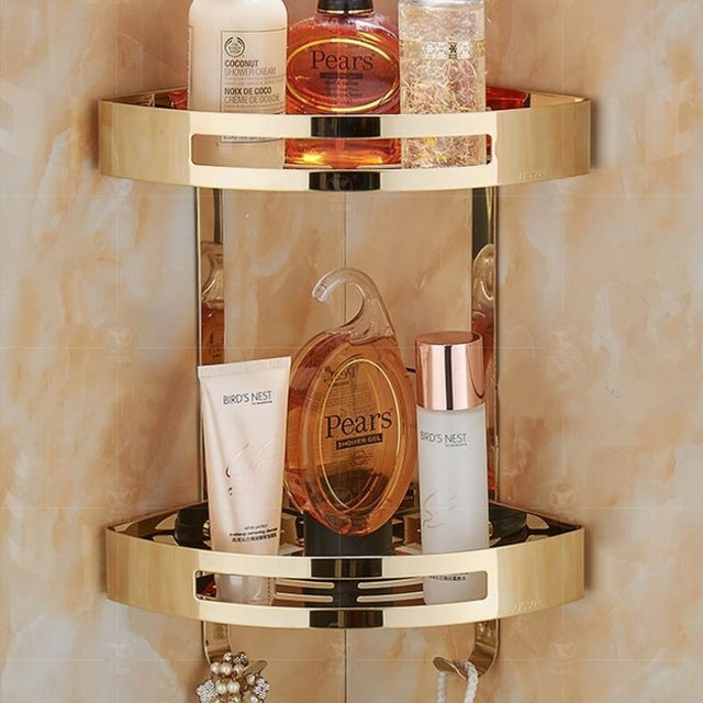 Bathroom Accessories Rose Gold- Holder Corner Soap and Shampoo