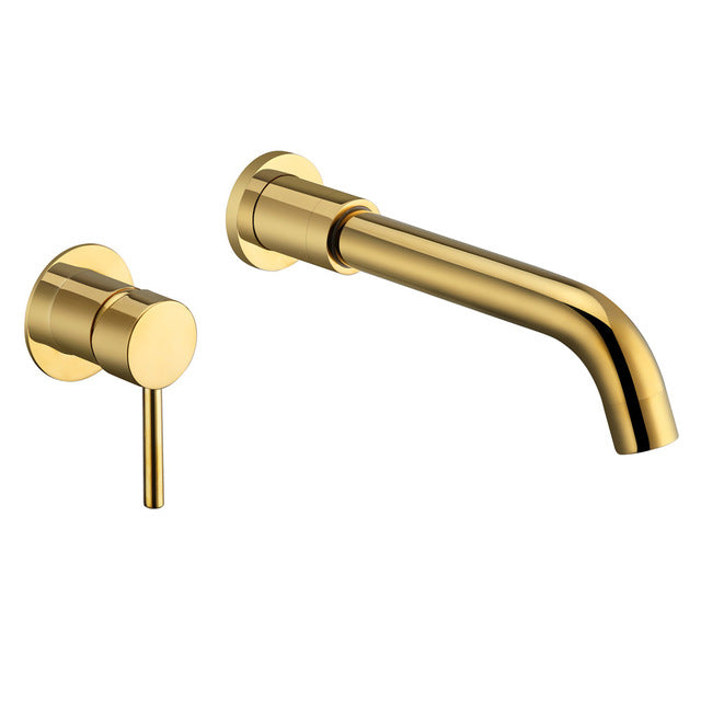 Gold -Brushed Gold-Rose Gold Wall Mounted Single Lever Lavatory Faucet