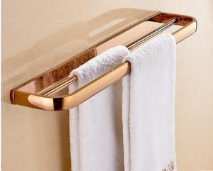 Free Shipping Brass Bathroom Accessories Set Rose Gold Hook Paper