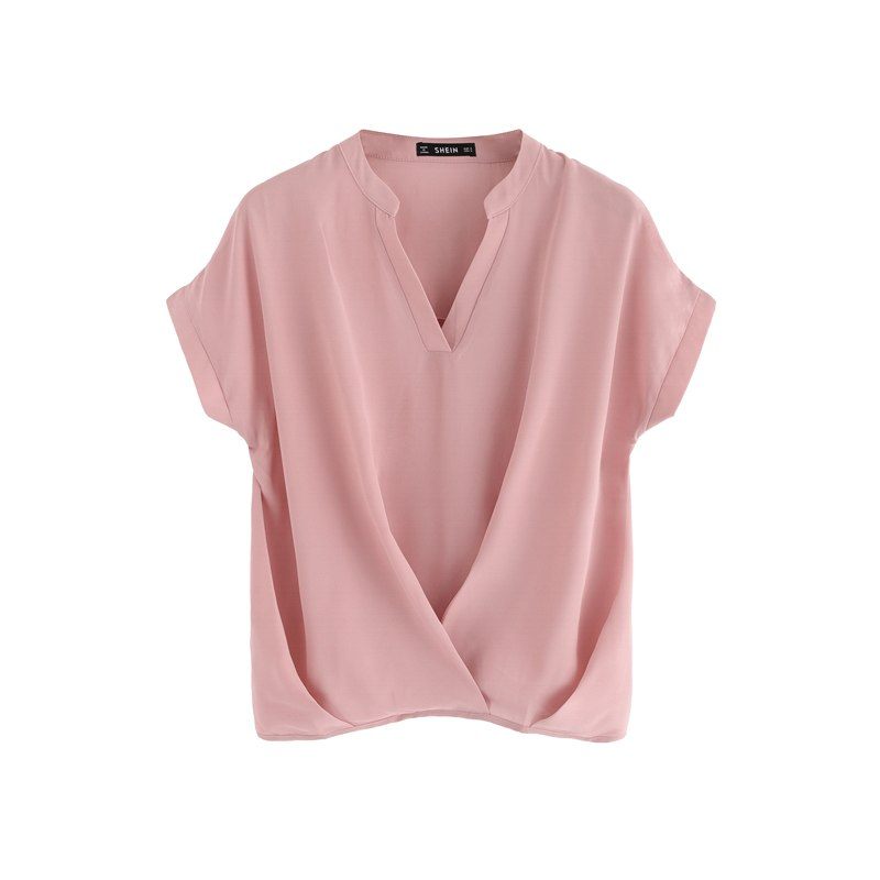 Elegant Workwear Draped V Neck