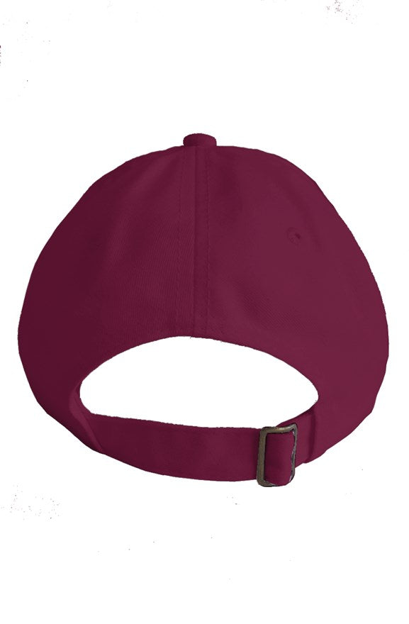 b5398720db496 Ganjaflage® Maroon Dad Hat with White Cola