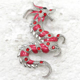 Different Beautiful Colors/Rhinestones Gorgeous Enamel Dragon Brooches