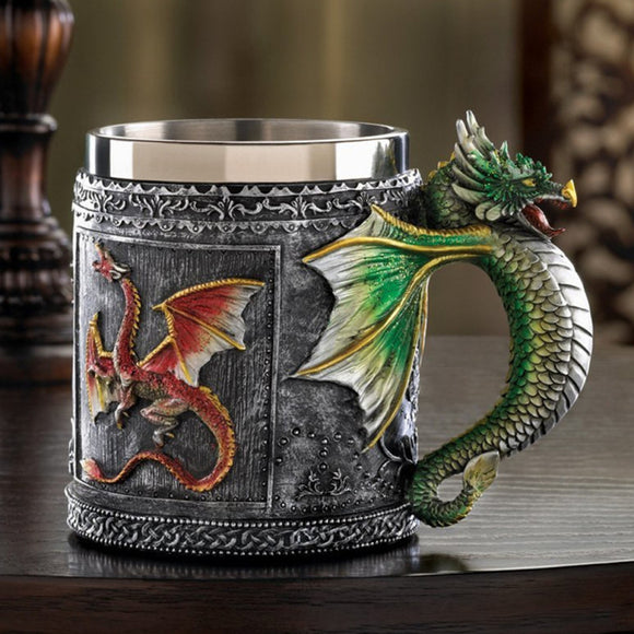 1Piece Royal Dragon Mug Serpent Medieval Collectible Stein 3D Dragon Spine Tankard Drinking Vessel