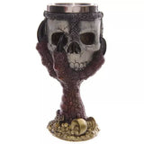 200ml Double Wall Resin Stainless Steel 3D Skull Drinking Mug Personalized Dragon Bone Skull Metal Wine Goblet Cup