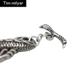 New Dragon Charm Bracelets 316L Titanium Steel Dragon Bracelet For Men