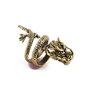 Here's a fascinating, eye catching, Conversation Starter Dragon Ring.  If you are a Dragon Lover this will get the Attention of other Fellow Dragon Lovers
