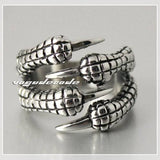 Cool Dragon Claw Stainless Steel Men`s Ring