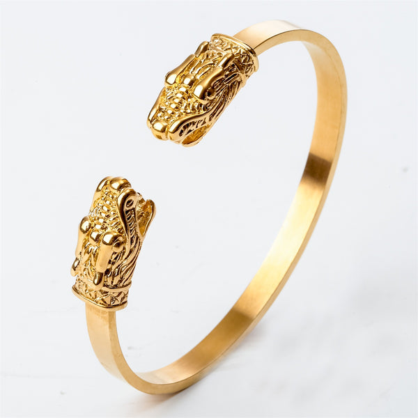 Dragon Bangle Bracelet Stainless Steel Silver Gold Color Birthday Jewe Valuables